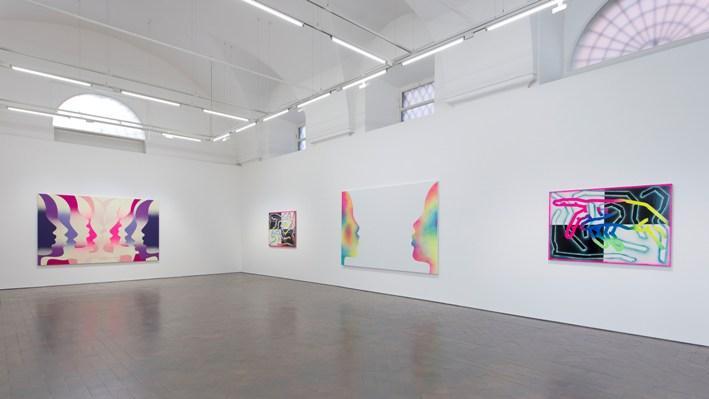 Eddie Peake: People, 2018 installation view