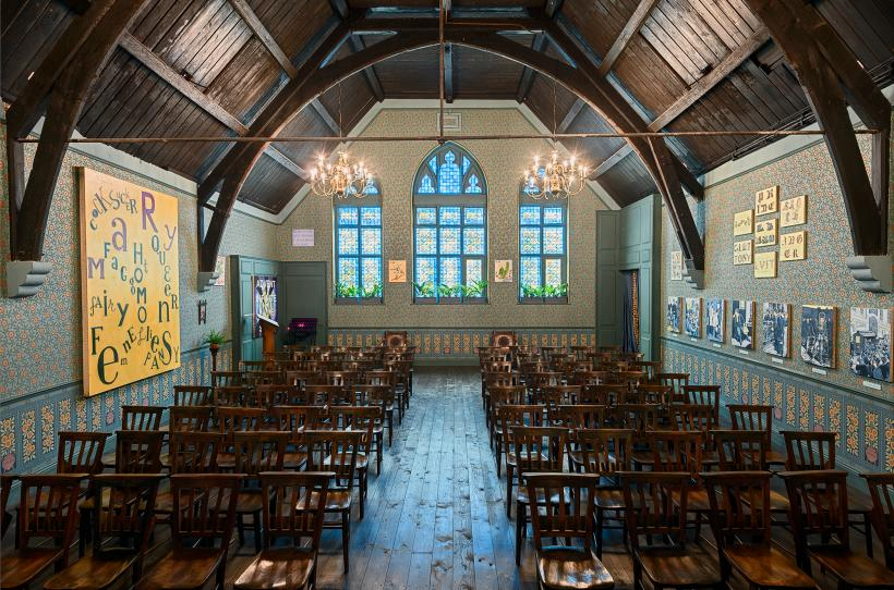 Oscar Wilde Temple by McDermott & McGough, Studio Voltaire, London 3 October 2018 to 31 March 2019.