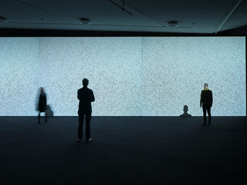 Ryoji Ikeda, Eye Museum, installation view, copy right studio hans wilschut