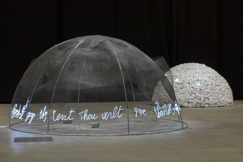 "Mario Merz, ""Igloos"", exhibition view at Pirelli HangarBicocca, Milan, 2018"