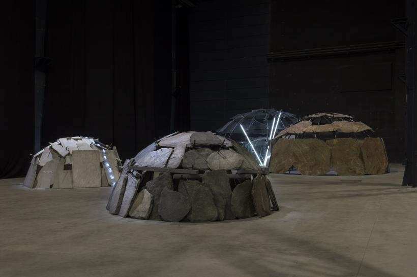 "Mario Merz, ""Igloos"", exhibition view at Pirelli HangarBicocca, Milan, 2018"