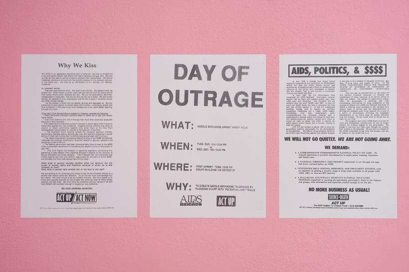 ACT UP flyers, Gran Fury, various dates, wheatpaste posters