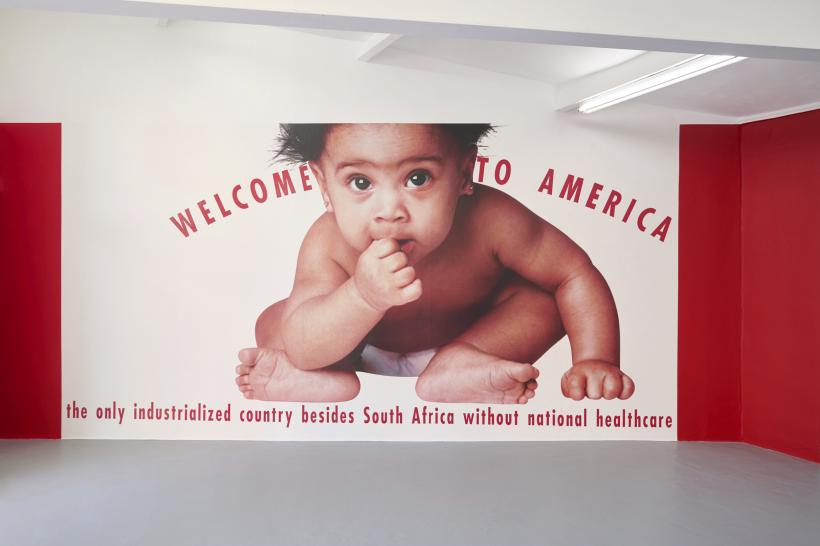 Welcome to America, Gran Fury, 1990, vinyl wall poster