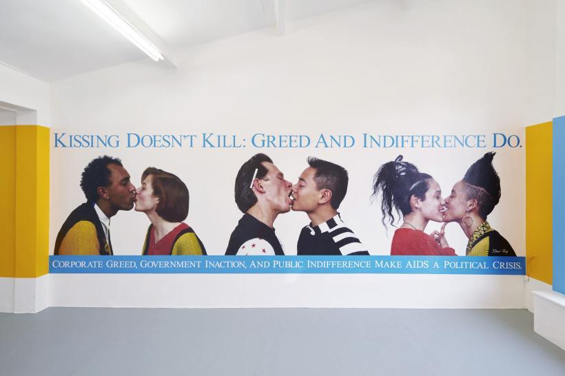 Kissing Doesn't Kill, Gran Fury, 1990, vinyl wall poster