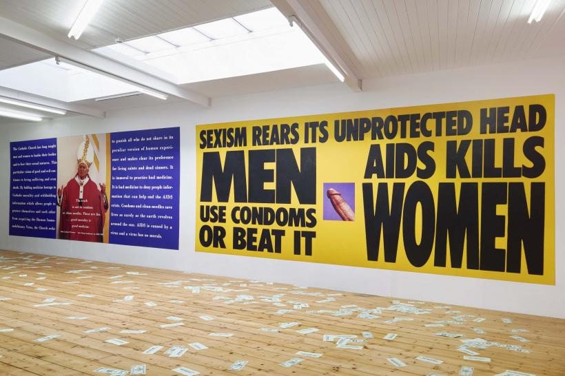 Sexism Rears Its Unprotected Head, Gran Fury, 1988, vinyl wall poster