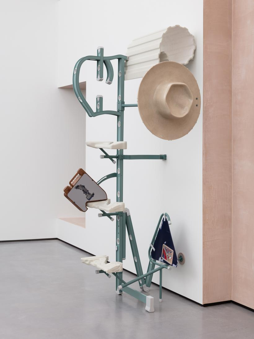 Installation shot of Magali Reus in The Hepworth Prize for Sculpture. 26 October 2018 - 20 January 2019.