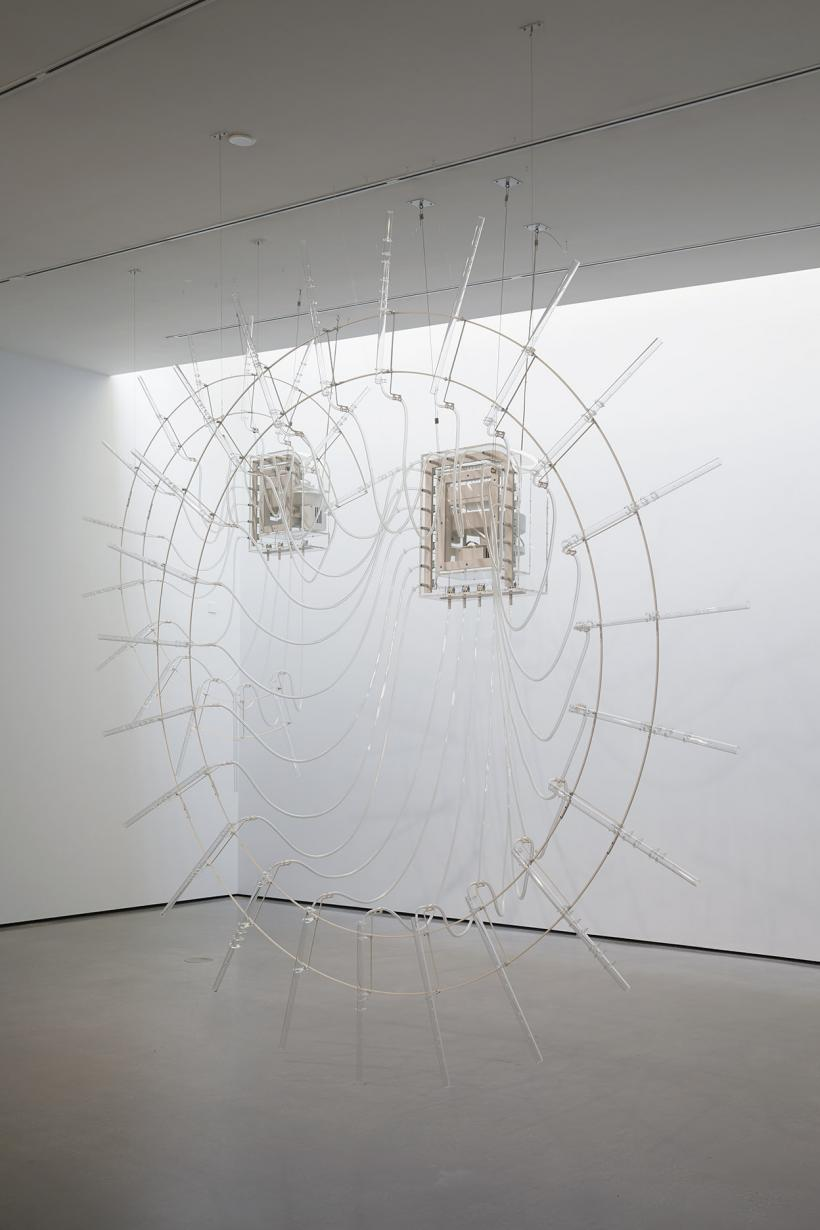 Installation shot of Cerith Wyn Evans in The Hepworth Prize for Sculpture. 26 October 2018 - 20 January 2019.