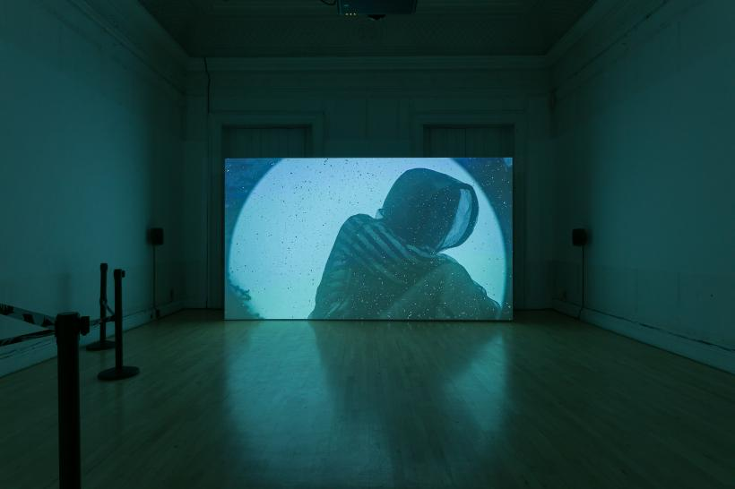 Metahaven, Information Skies, 2018. Installation view of Metahaven: VERSION HISTORY at Institute of Contemporary Arts, London, 3 October - 13 January 2019