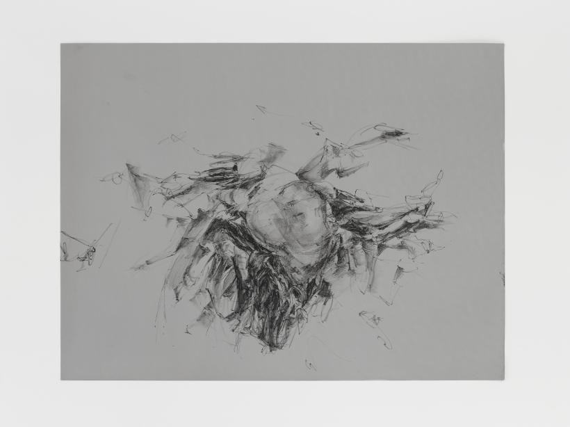 Christine Ay Tjoe, Always Floating In A Constant Distance 16, 2018, Lithographic crayon on aluminium, 17 1/2 x 23 1/8 x 0 1/8 in.