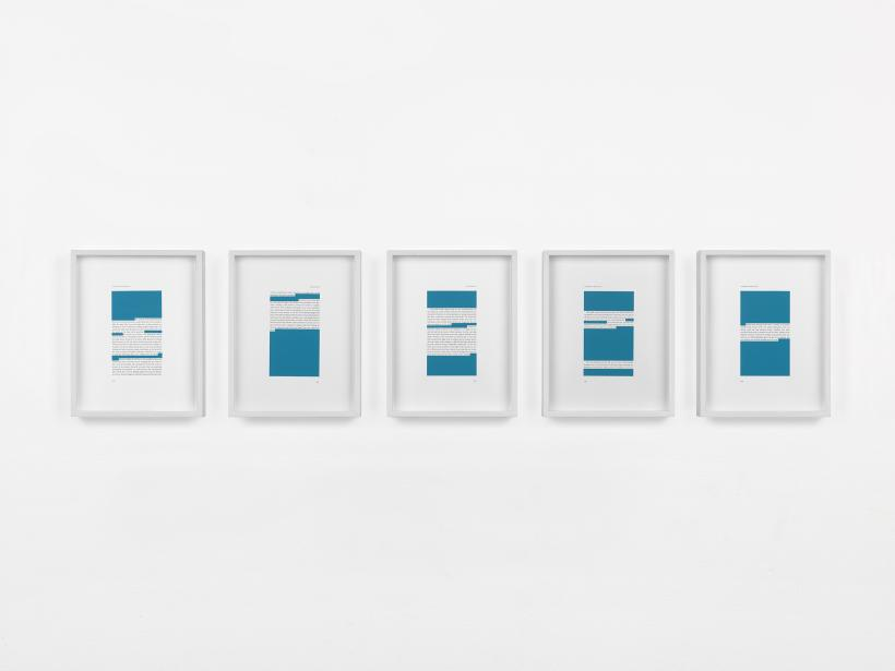 Body Scripts (pgs. 5-7), 2015, gouache on paper, 3 framed works, each: 27.94 x 20.32 cm.