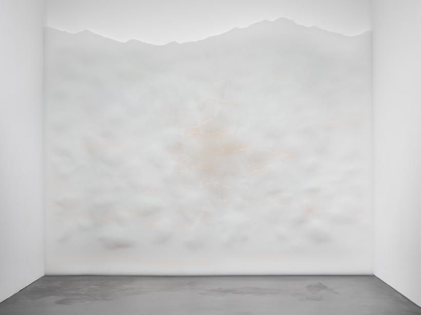 Haze, 2003/2018, Translucent plastic drinking straws, Dimensions variable