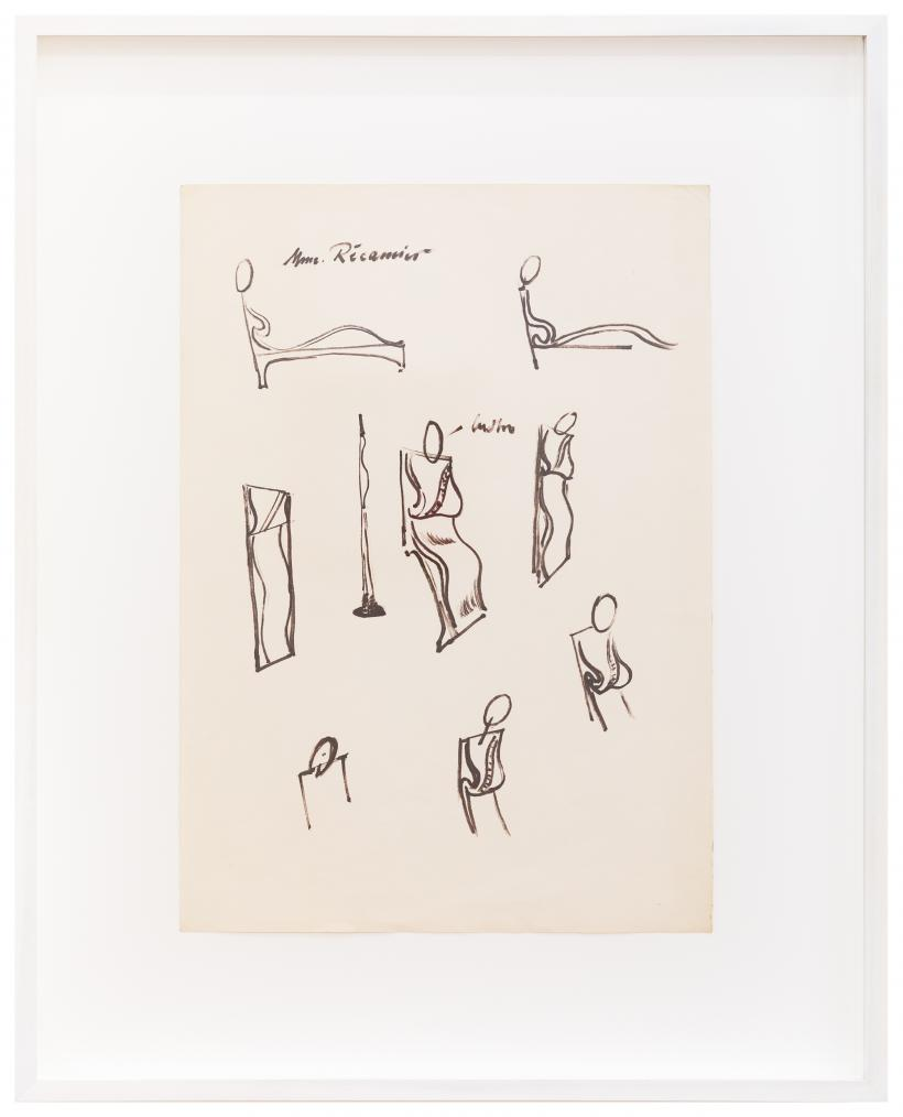 Maria Pininska-Beres, No Title [Studies for 'Mme Recamier'], ca 1992, Drawing on paper 41.5 x 29.5 cm