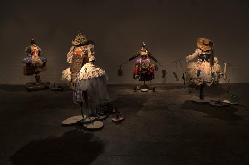 Suzanne Bocanegra, La Fille, installation view (detail) at The Fabric Workshop and Museum.