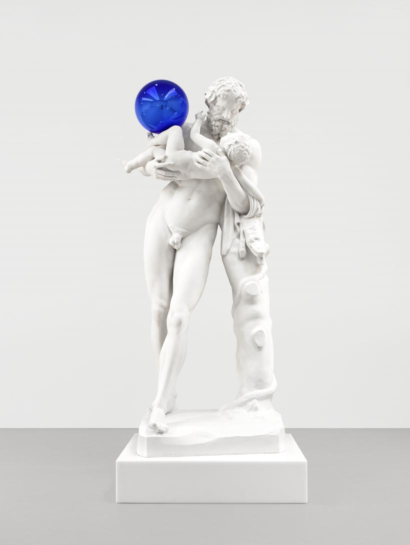 Gazing Ball (Silenus with Baby Dionysus)