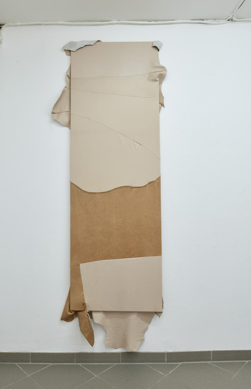 Louise Sparre, Adaptation, 2019, leather and wood
