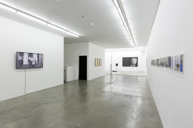 Installation view featuring (l-r) Anna Jermolaewa, Jamal Cyrus, Nikita Kadan, Karl Haendel and Victoria Lomasko