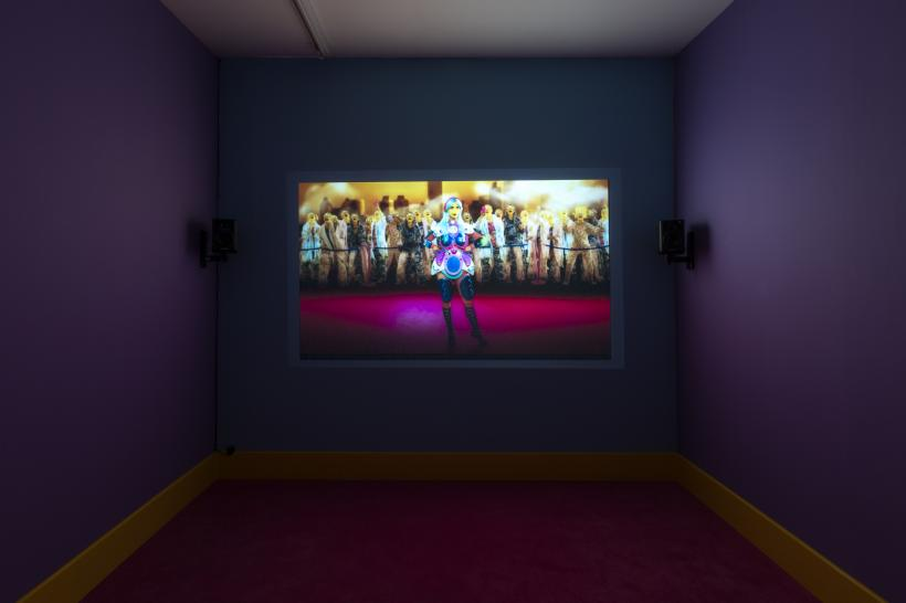 Rachel Maclean, It's What's Inside That Counts, 2016, Single screen installation, 30 minutes, Commissioned by HOME, University of Salford Art Collection, Tate, Zabludowicz Collection, Frieze Film and Channel 4