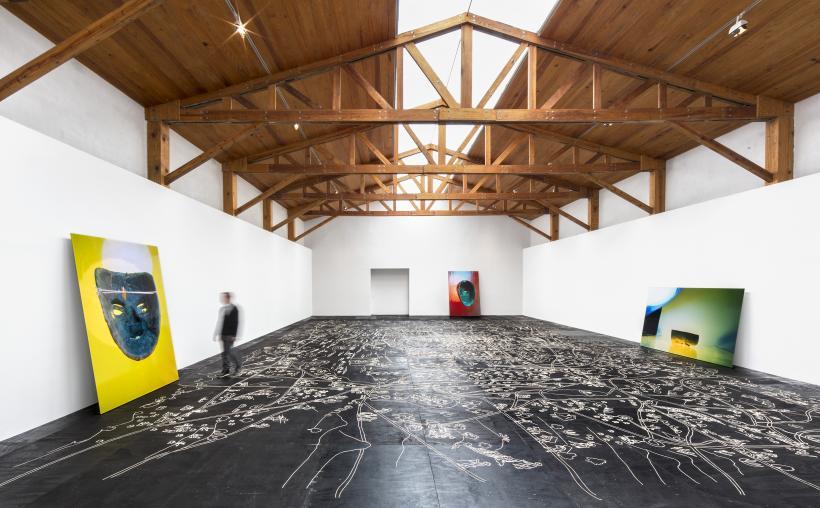 Installation view: Mariana Castillo Deball: Vista de Ojos, kurimanzutto, Mexico City, 2014.