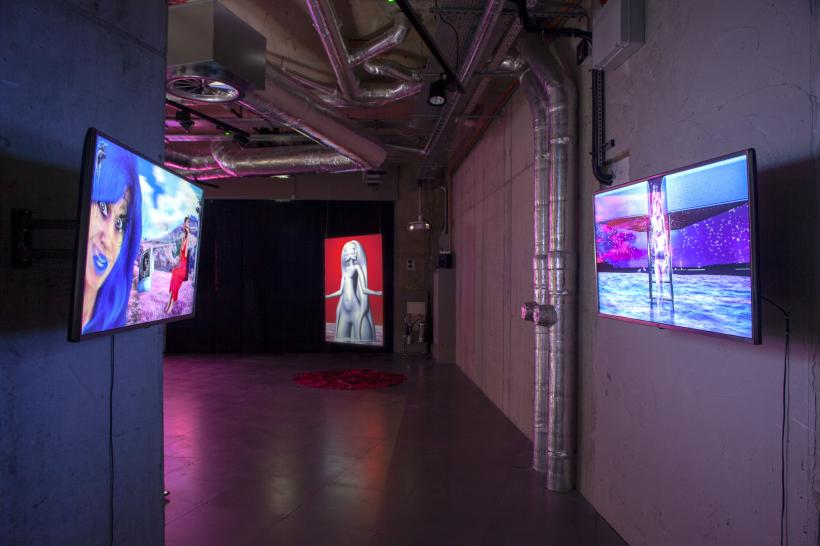 Installation view of RE-FIGURE-GROUND