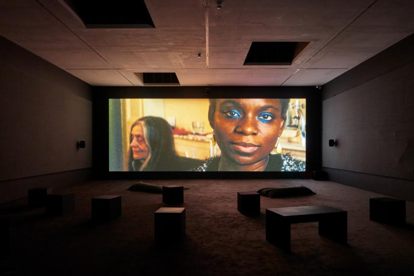 Beatrice Gibson, Deux Soeurs Qui Ne Sont Pas Soeurs (Two Sisters who Are Not Sisters) Crone Music, Installation View, Camden Arts Centre 2019