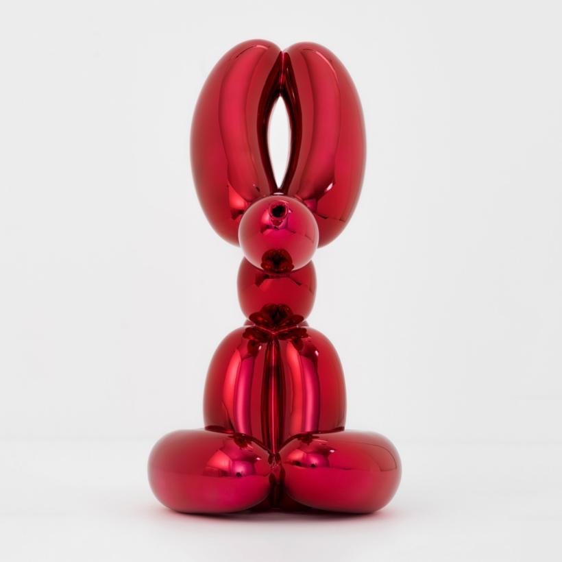 Jeff Koons, Balloon Rabbit (red)