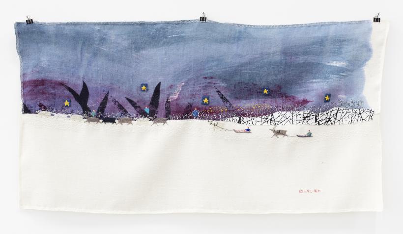 Britta Marakatt-Labba:Untitled (2018-19), textile, embroidery