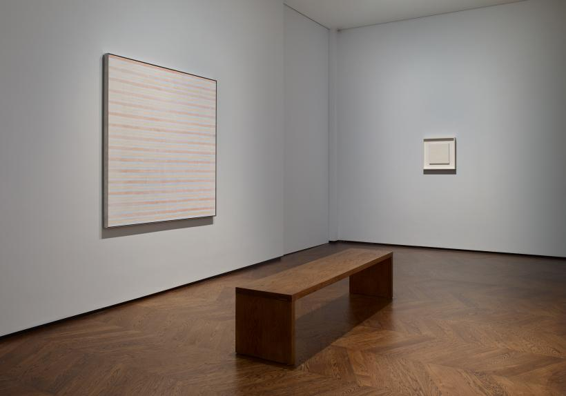 FOCUS: Agnes Martin. Installation view, Levy Gorvy, London, 2019.