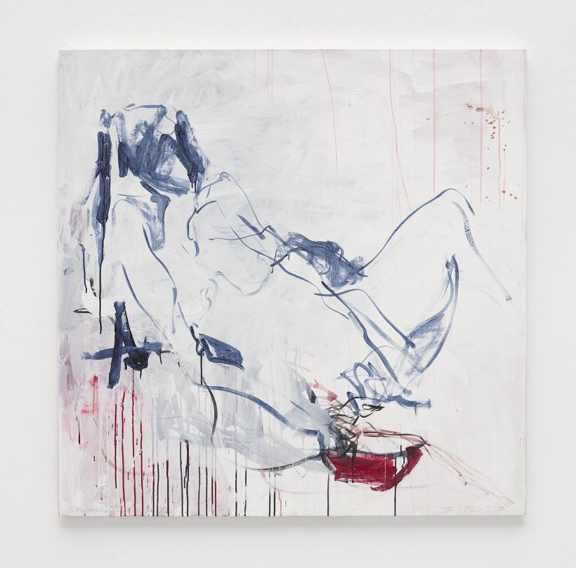 Tracey Emin, Sometimes There is No Reason, 2018, Acrylic on canvas, 122 x 122.5 cm