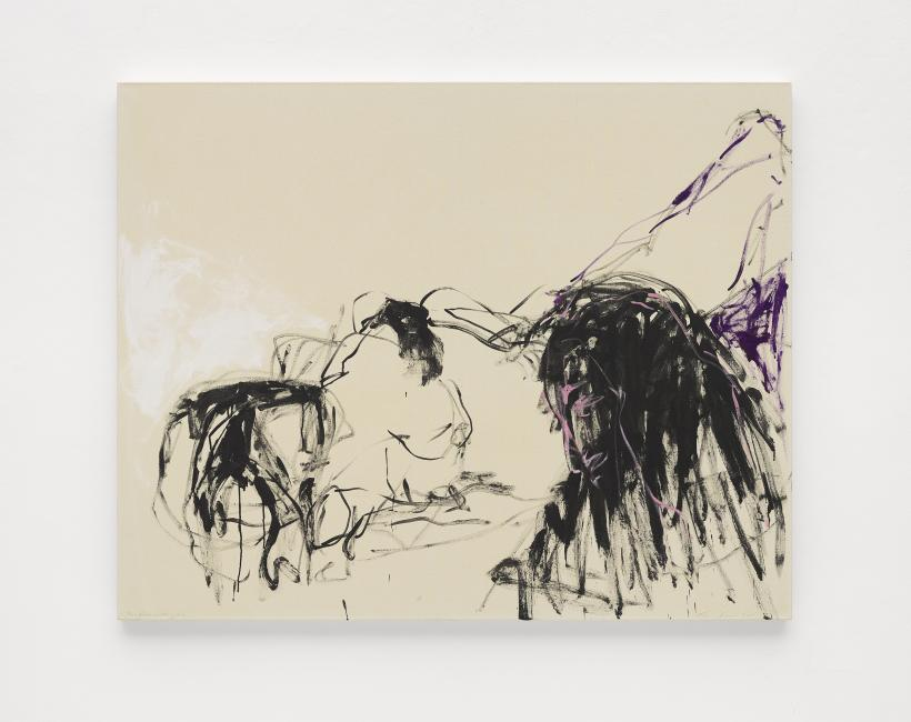 Tracey Emin, You Kept watching me, 2018, Acrylic on canvas,122.4 x 152.5 cm