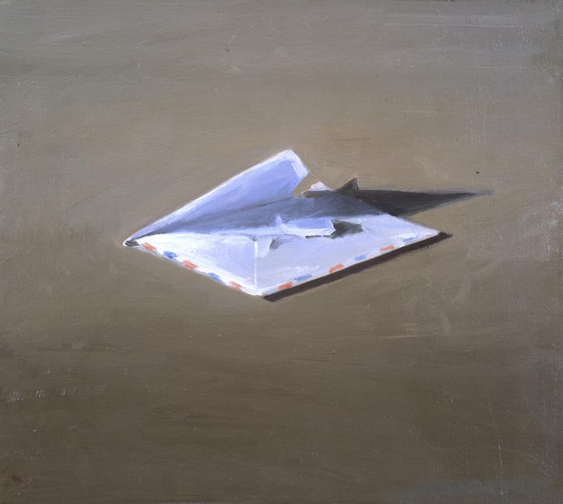 Vija Celmins, Envelope, 1964; oil on canvas; private collection