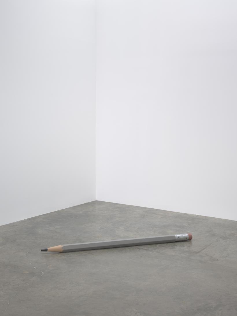 Vija Celmins, Pencil, 1968–70; wood, canvas, and acrylic paint