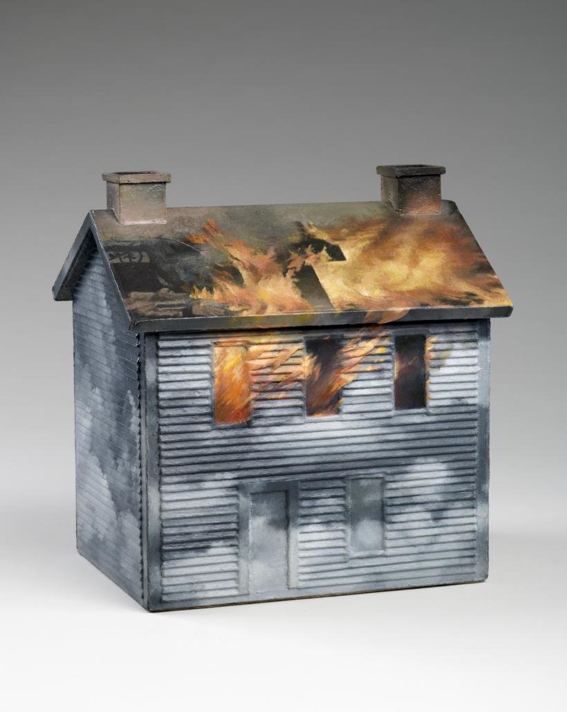 Vija Celmins, House #2, 1965; wood, cardboard, and oil paint