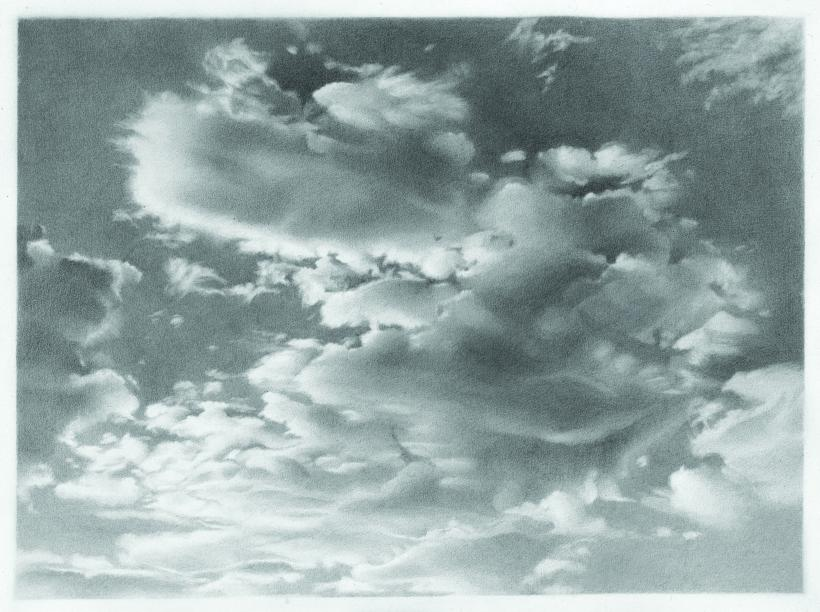 .Vija Celmins, Clouds, 1968; graphite on paper