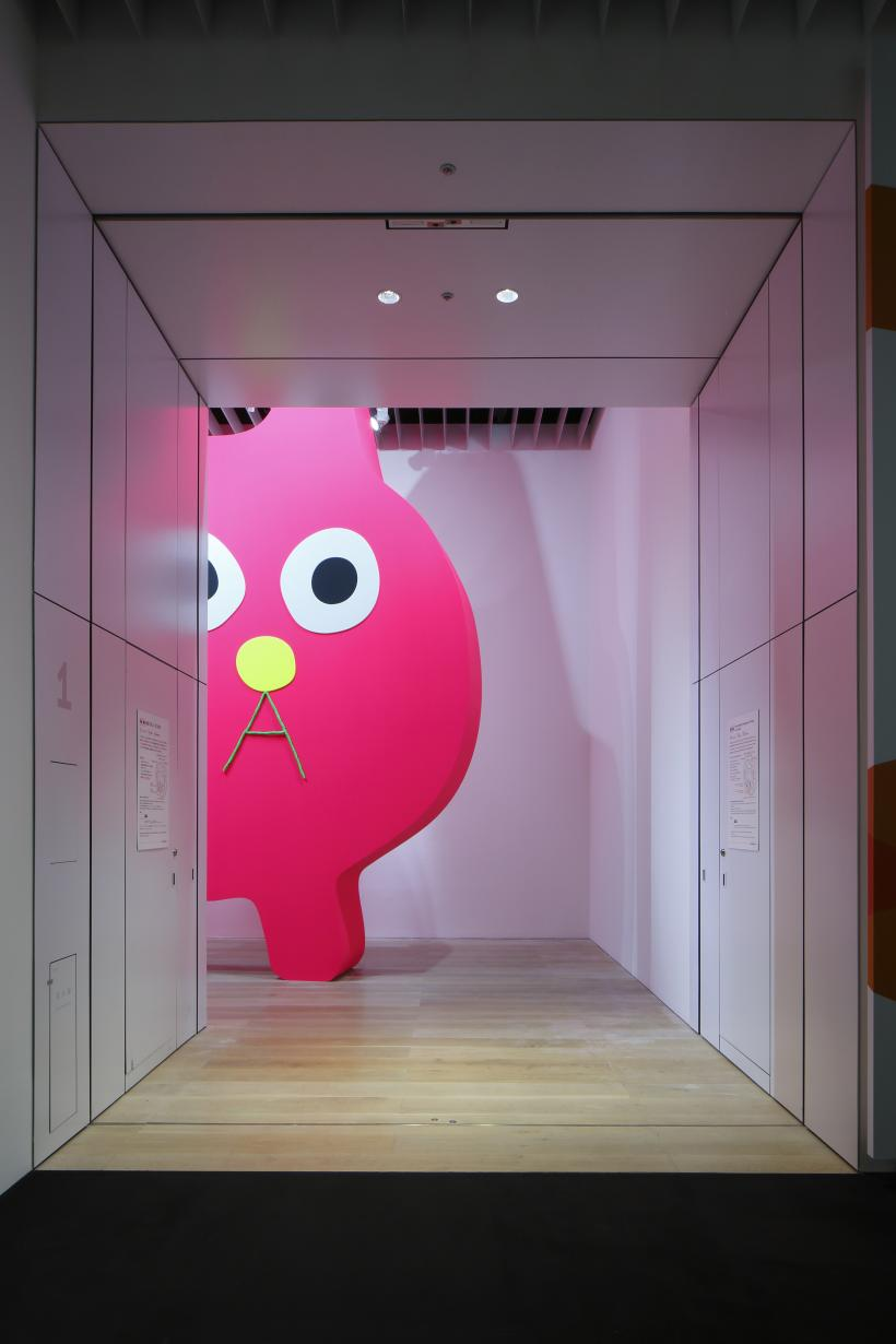 Decoratorcrab - Mr. Kobayashi, the Pink Cat, Installation view: Roppongi Crossing 2019: Connexions, Mori Art Museum, Tokyo