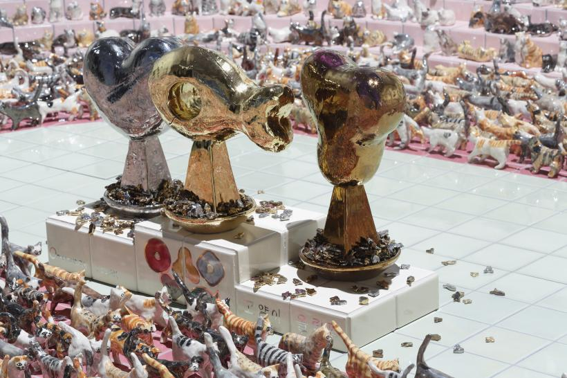 Cat Olympics: Opening Ceremony (detail), Installation view: Roppongi Crossing 2019: Connexions, Mori Art Museum, Tokyo