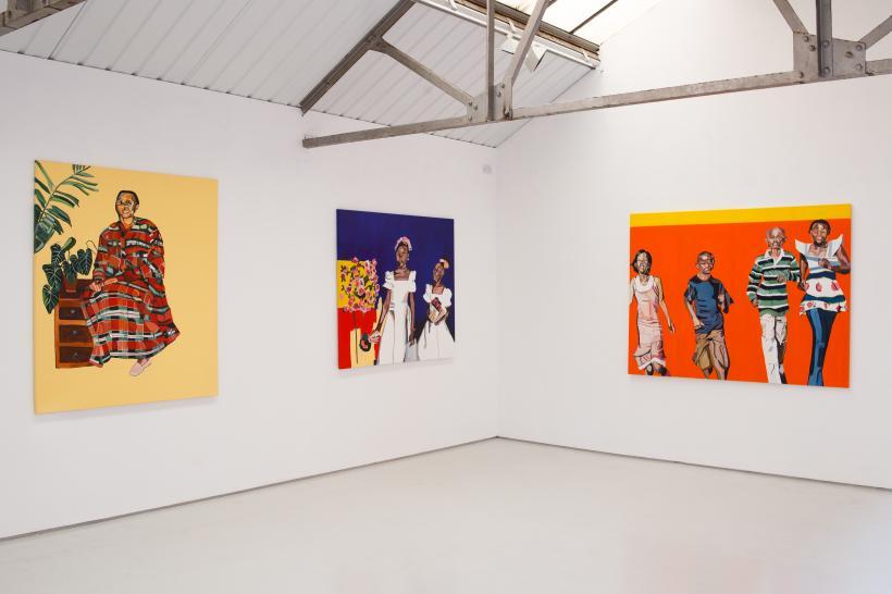 Installation View, Joy Labinjo, As We Were, Bloc Projects, 2019