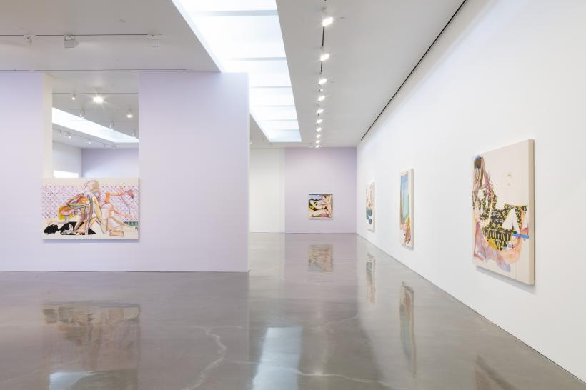 Installation view of Christina Quarles But I Woke Jus' Tha Same at Regen Projects, Los Angeles  April 6 - May 9, 2019