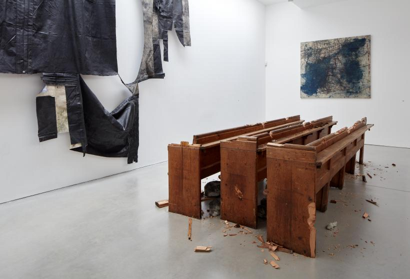Oscar Murillo, Violent Amnesia, 2019. Kettle's Yard, University of Cambridge