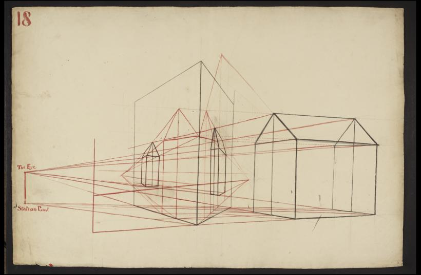 Lecture Diagram 18: Principles of Rectilinear Perspective (after Thomas Malton Senior)