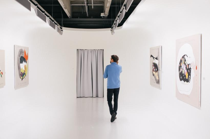 Pavel Pepperstein, The Human as a Frame for the Landscape, installation view, Garage Museum of Contemporary Art, Moscow, 2019