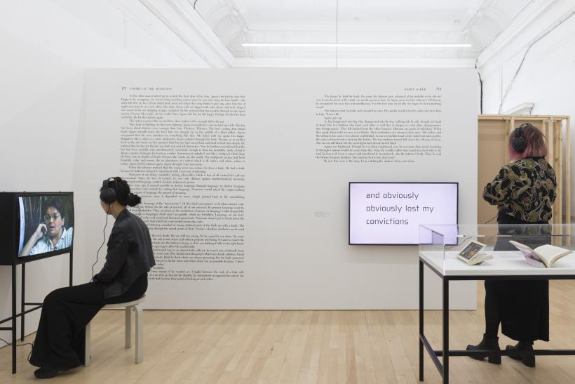 Installation view of I, I, I, I, I, I, I, Kathy Acker at ICA, London, 2019