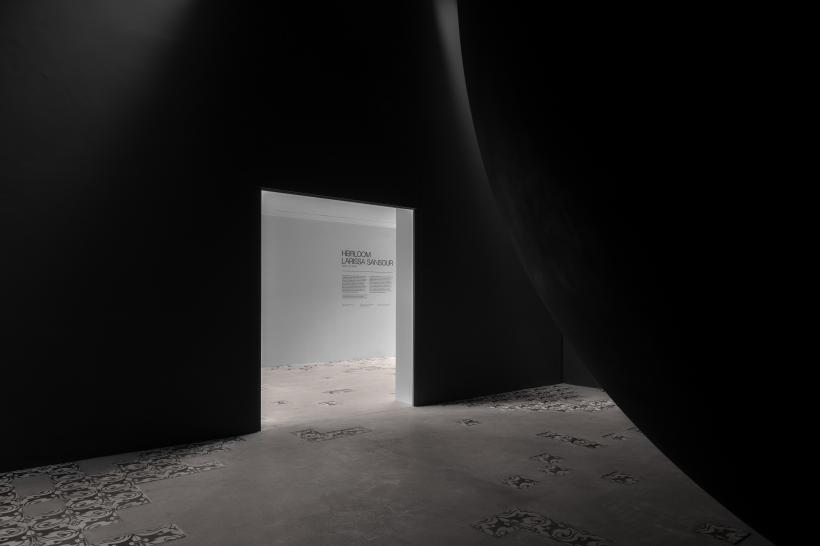Larissa Sansour and Søren Lind. Installation view of A Monument for Lost Time, 2019