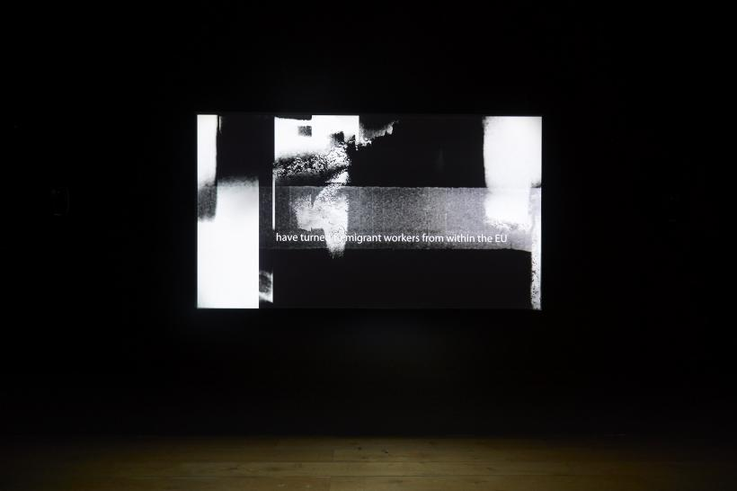 Lis Rhodes: Dissident Lines, installation view of Nottingham Contemporary