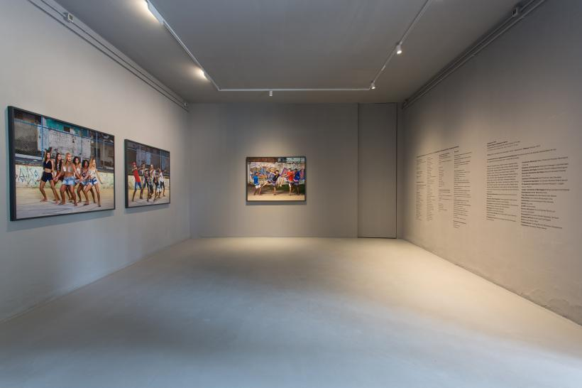 Installation view of Swinguerra, 2019, by Barbara Wagner and Benjamin de Burca at the Brazilian Pavilion at the 58th International Art Exhibition Biennale Arte 2019.