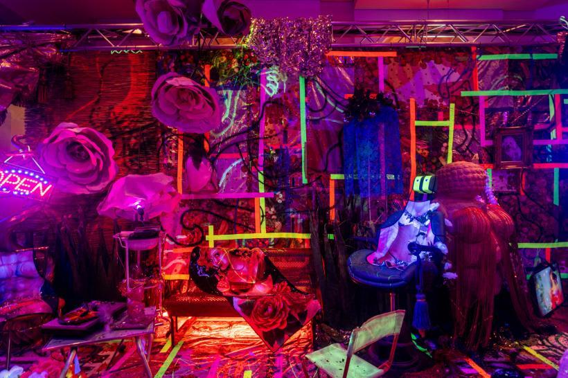 Cibelle Cavalli Bastos, Las Venus Resort Palace Hotel's Cabaret Lounge Splice Download, 2019, installation, Congress Graz, photo: Mathias Volzke