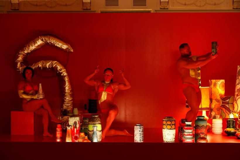 Jakob Lena Knebl and Markus Pires Mata, The Style Council, 2019, performance, Congress Graz, photo: Liz Eve