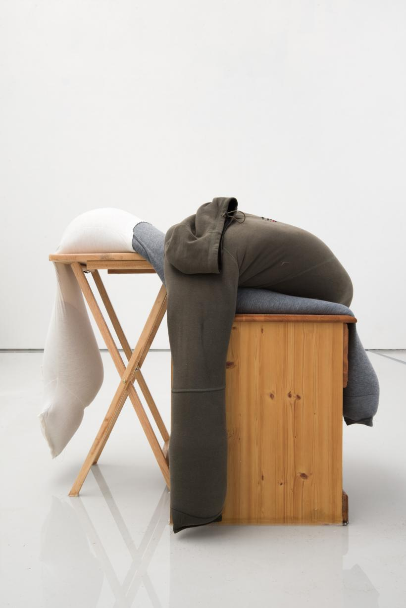 Sag on a folding table, slip on a bedside cabinet in water, alex farrar, bloc projects, 2019, 1