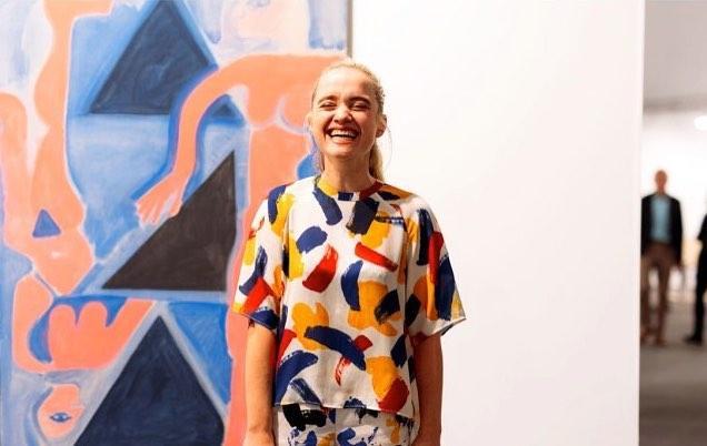 Portrait of the artist Marijke de Roover at Frieze London 2014. Courtesy of the artist and Vogue UK. Photo: Mehdi Lacoste