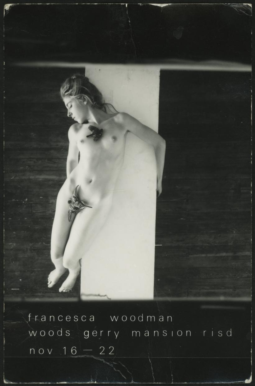 Francesca Woodman, Francesca Woodman exhibition postcard, postmarked November 7, 1978. Postcard, 5 3/7 x 3 1/2 inches.