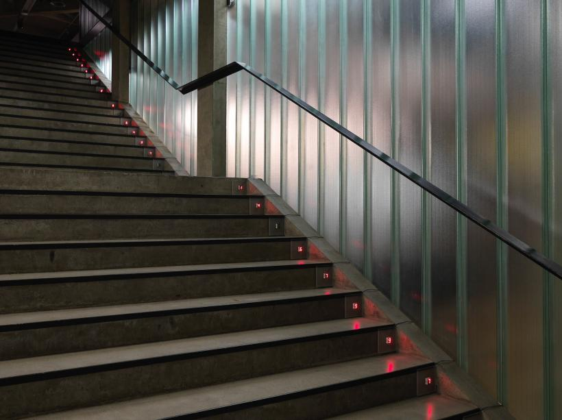 Tatsuo Miyajima: Counter Steps, 2019. Sky of Time exhibition 9.10.2019 - 8.3.2020. EMMA -Espoo Museum of Modern Art. Photo: Ari Karttunen/EMMA.